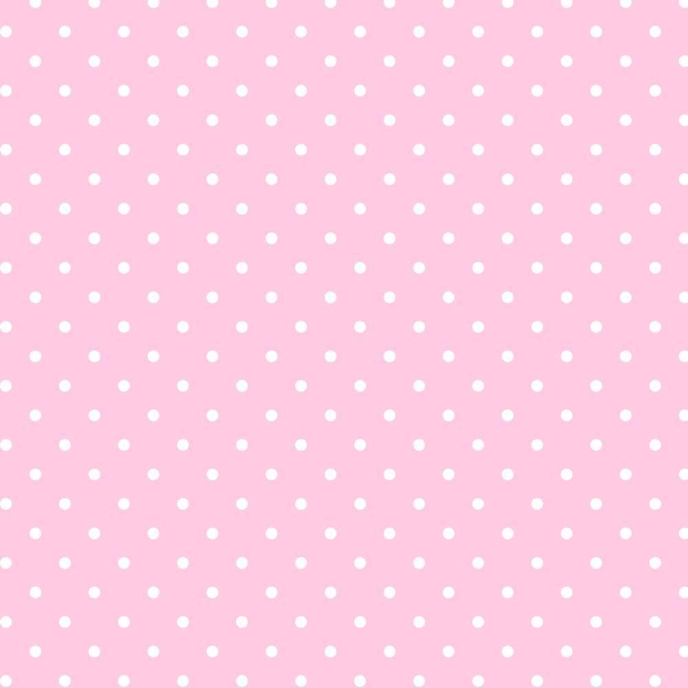 Poá branco fundo rosa bebê - BAÚ DA VOVÓ