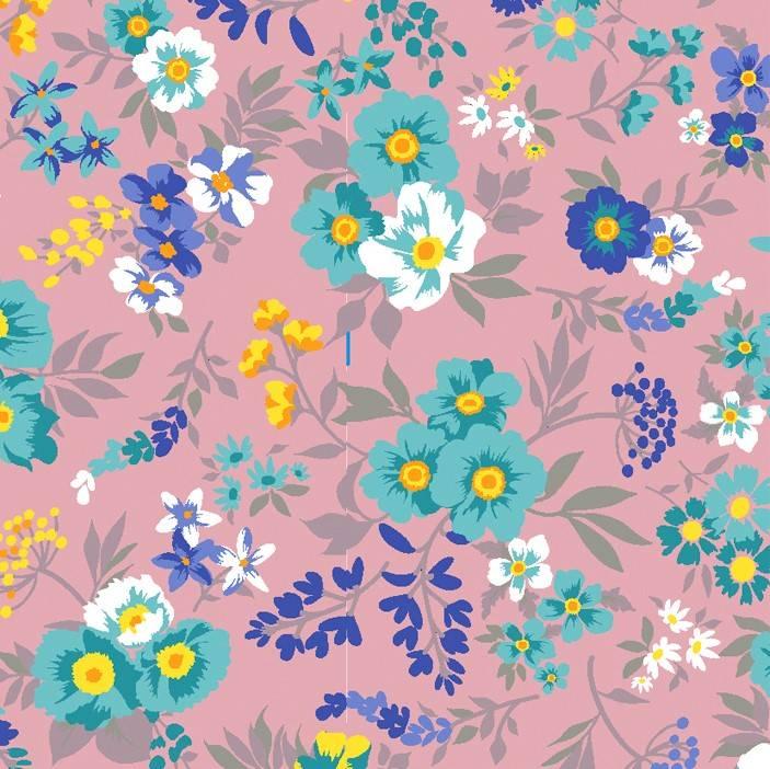 Bouquet de flores fundo rose - BAÚ DA VOVÓ