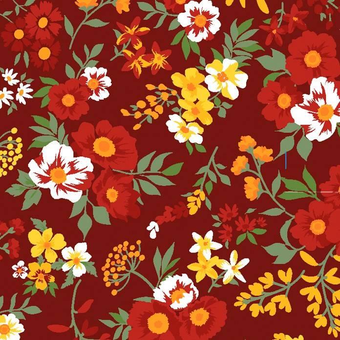 Bouquet de flores fundo bordô - BAÚ DA VOVÓ