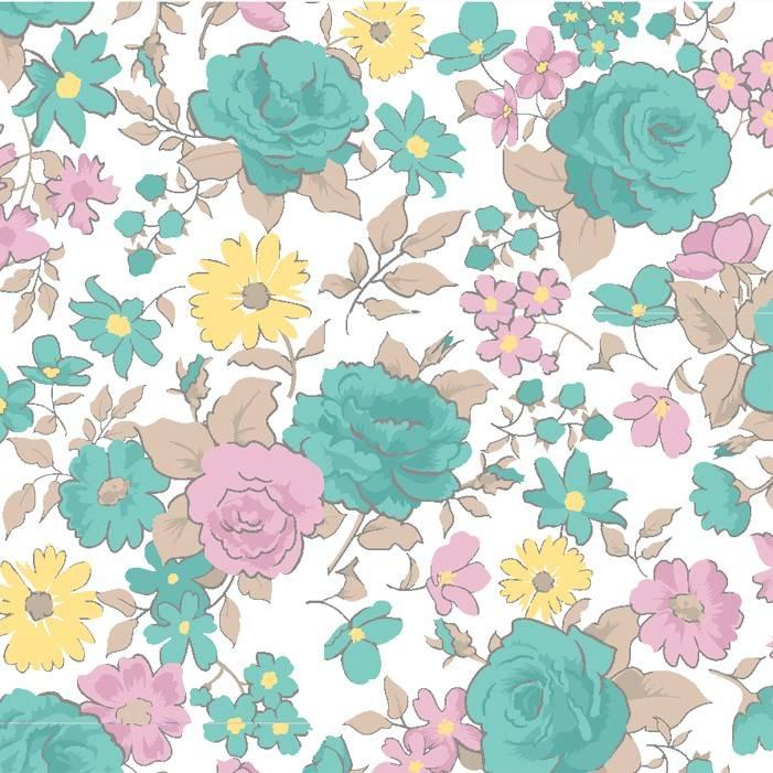 Rosas pequenas azul claro - BAÚ DA VOVÓ