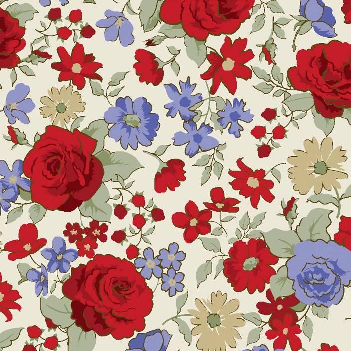 Rosas pequenas vermelhas - BAÚ DA VOVÓ