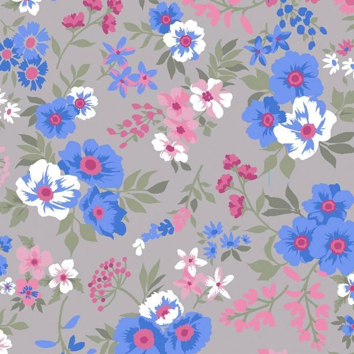 Bouquet de Flores fundo cinza - BAÚ DA VOVÓ
