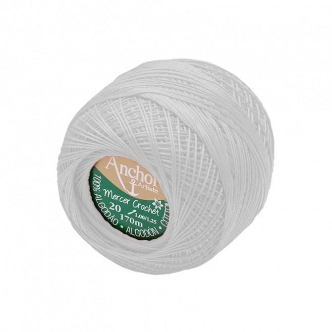 Mercer crochet 20 branco - BAÚ DA VOVÓ