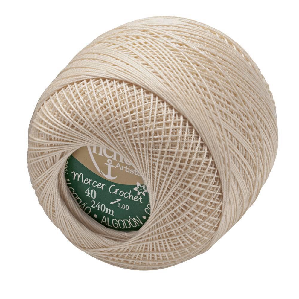Mercer crochet 40 cor 609 bege/cru - BAÚ DA VOVÓ