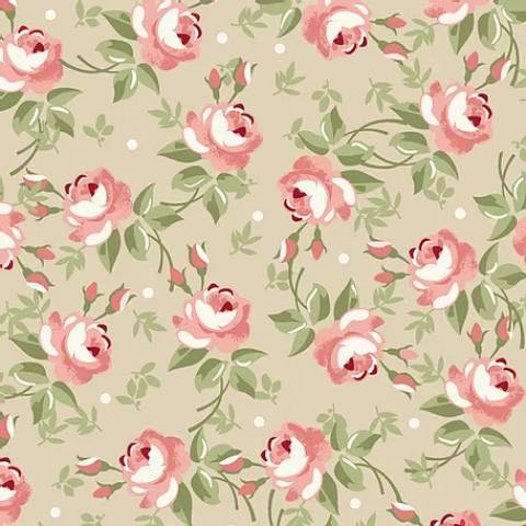 Floral Fadas Creme - BAÚ DA VOVÓ