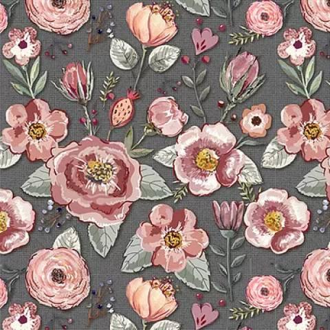 Floral Sweet Escuro - BAÚ DA VOVÓ