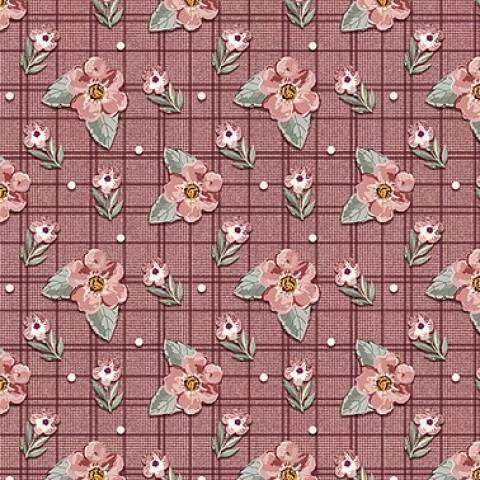 Mini Floral Sweet Vinho - BAÚ DA VOVÓ
