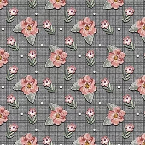 Mini Floral Sweet Grafite - BAÚ DA VOVÓ