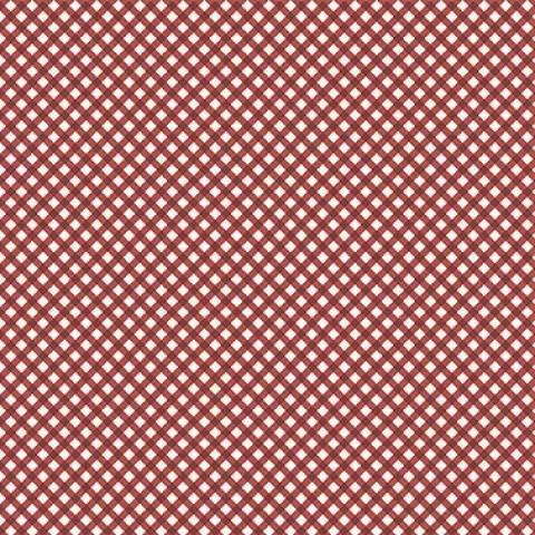 Micro xadrez vermelho - BAÚ DA VOVÓ