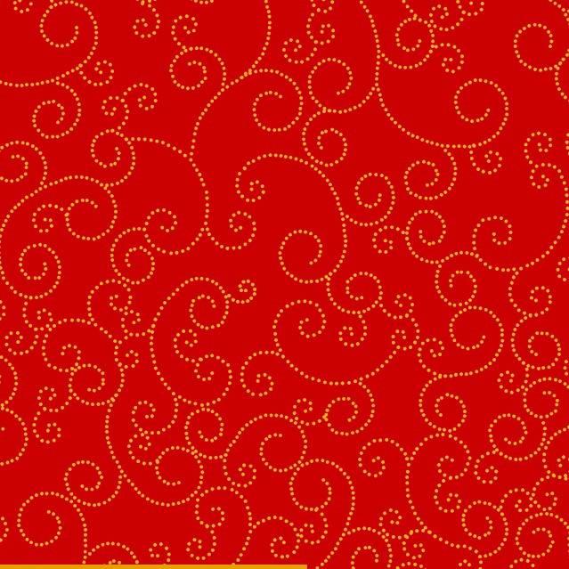 Swirl Fundo Vermelho - BAÚ DA VOVÓ