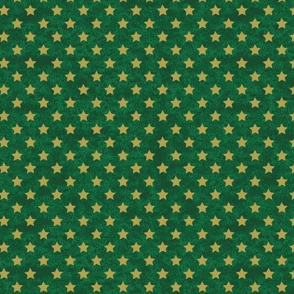 Estrelas com Texturas Fundo Verde - BAÚ DA VOVÓ