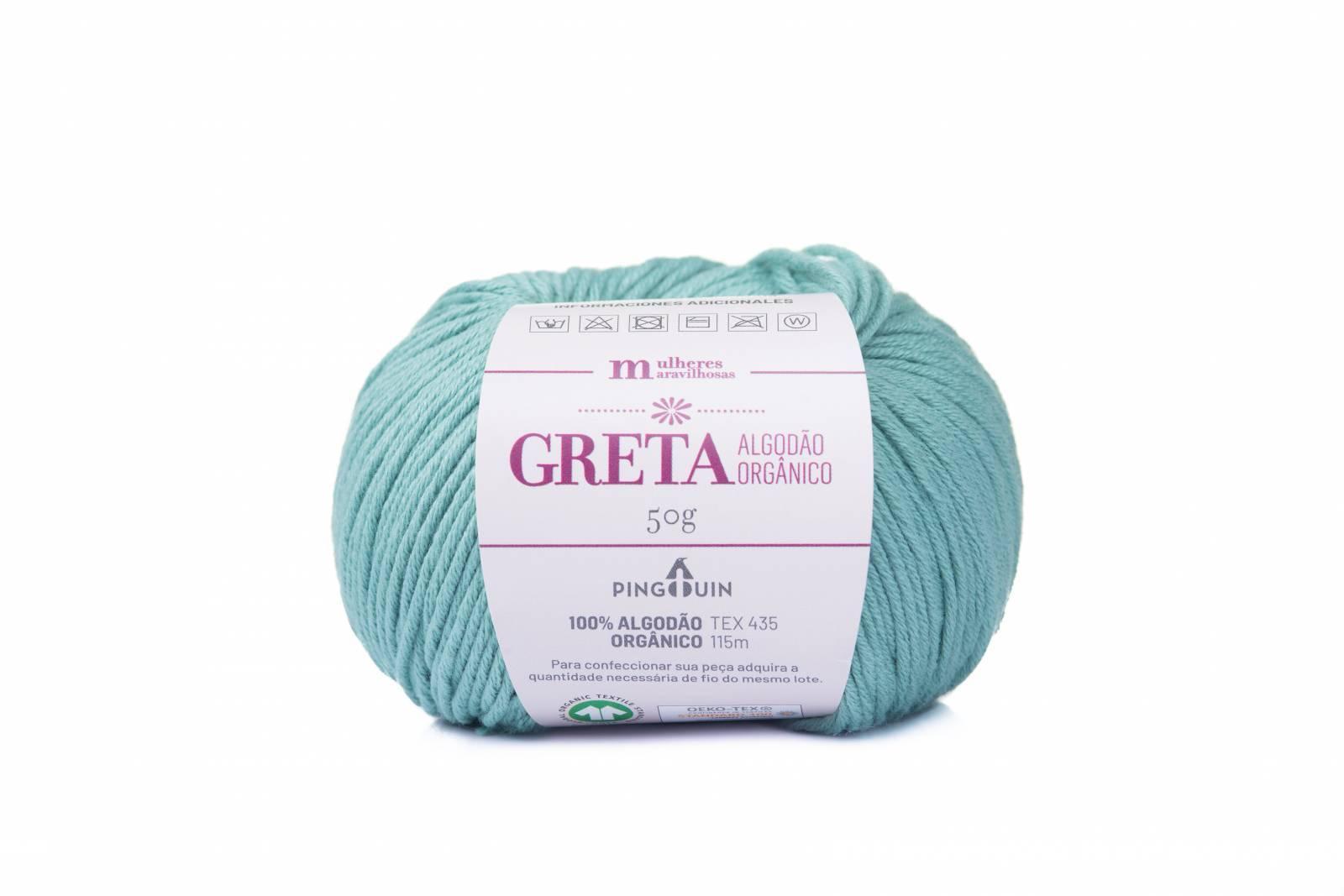Greta cor 9643 verde - BAÚ DA VOVÓ