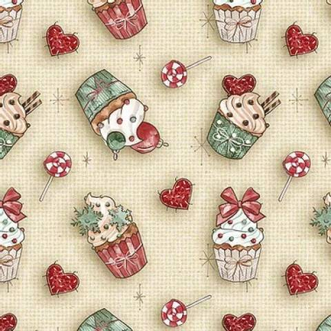 Cupcake Natal - BAÚ DA VOVÓ