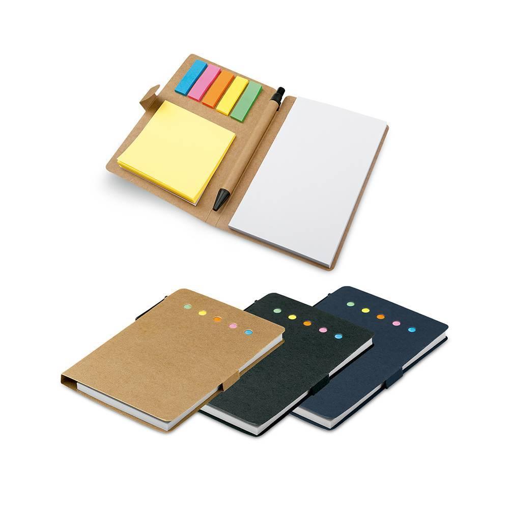 Kit caderno, esferográfica e blocos adesivos -  Hygge Gifts - HYGGE GIFTS
