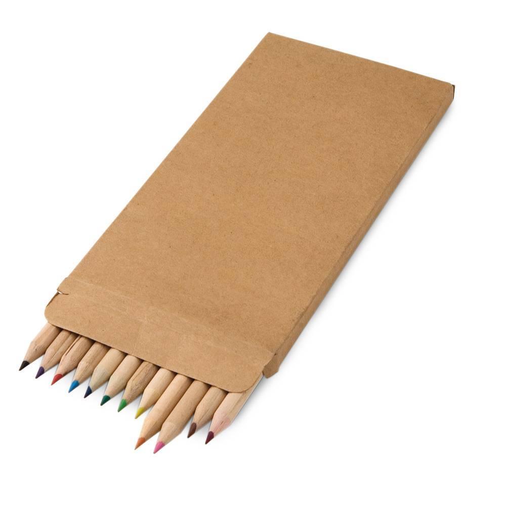 Caixa de cartão com 12 lápis de cor - Croco - HYGGE GIFTS