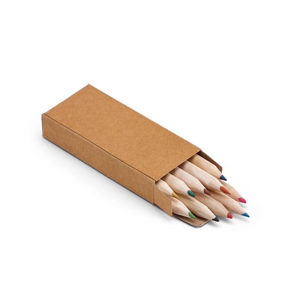 Mini lápis de cor Crafti 10 cores - Hygge Gifts - HYGGE GIFTS