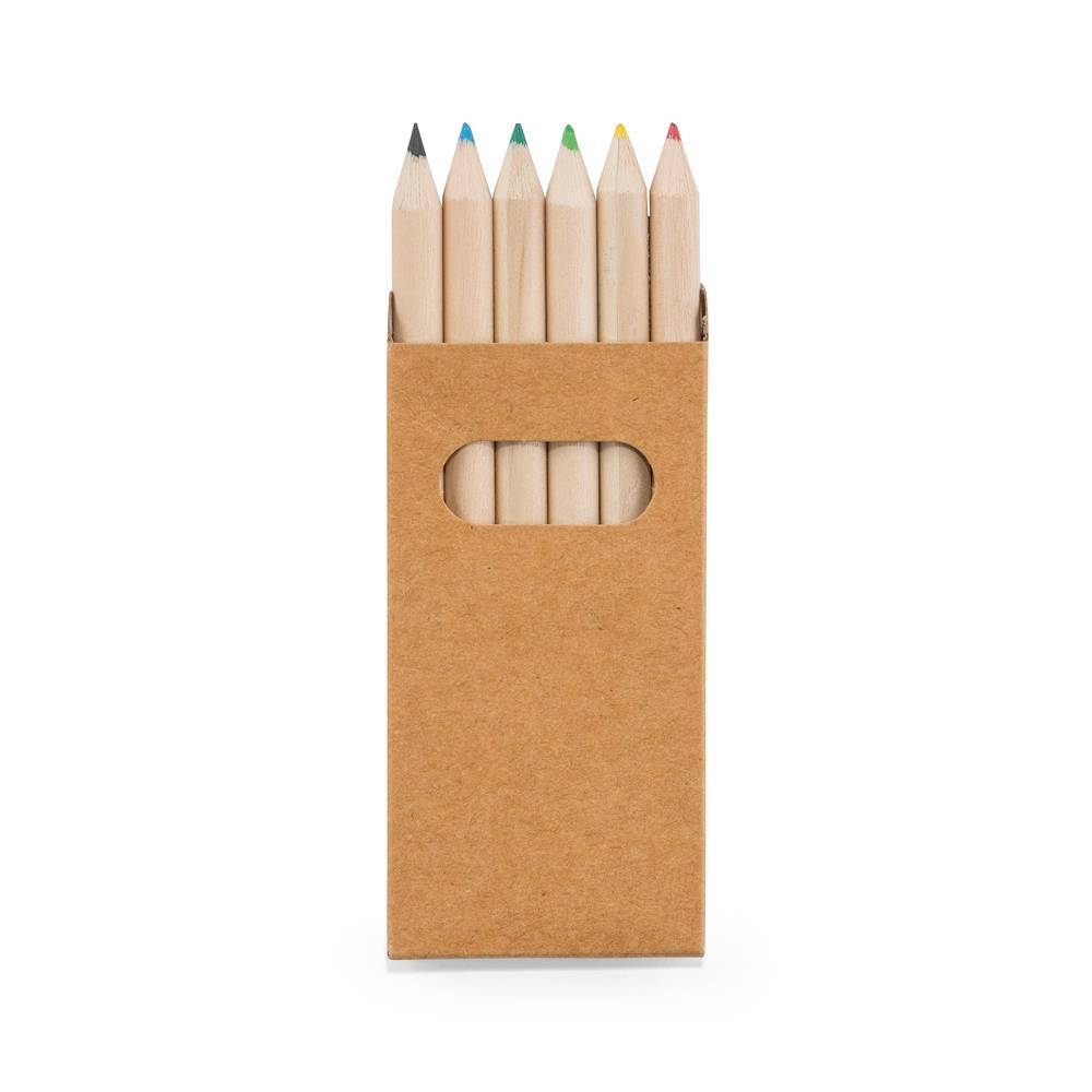 Mini lápis de cor Bird 6 Cores - Hygge Gifts - HYGGE GIFTS