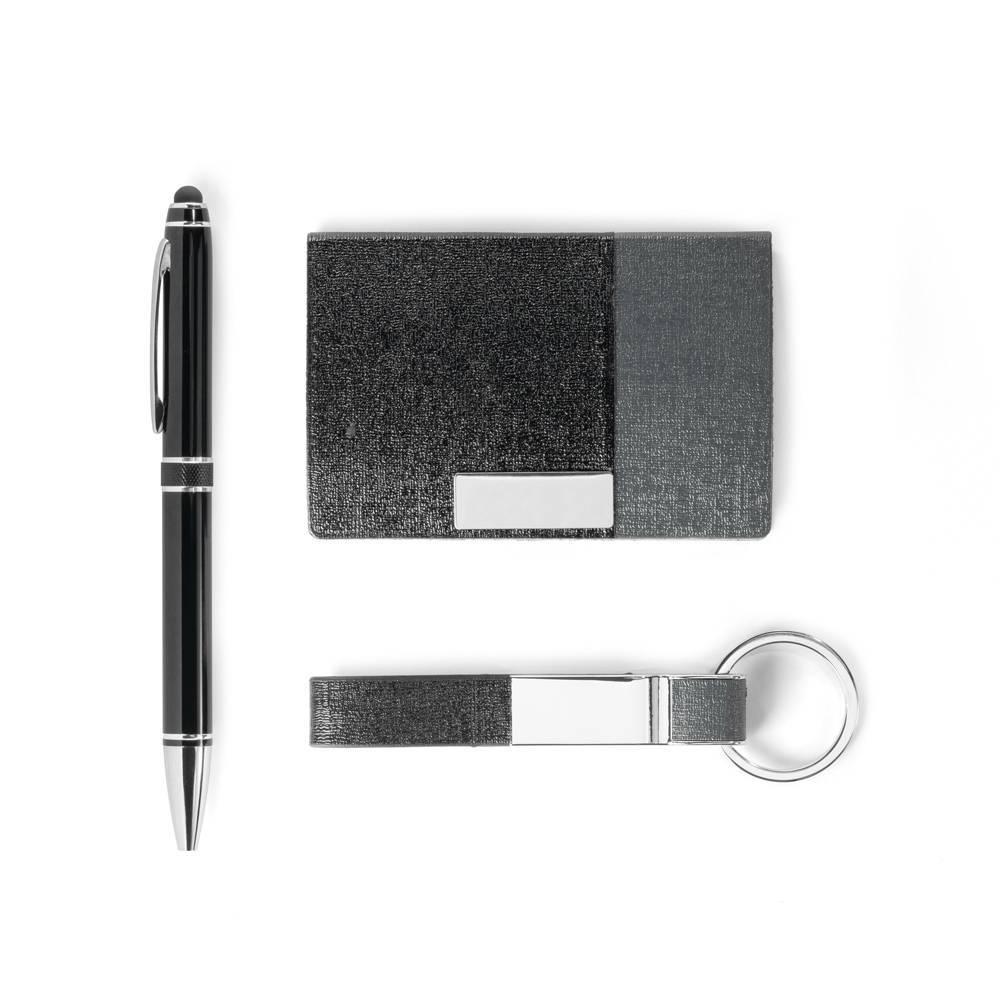 Kit Caneta, chaveiro e porta cartões Brendon - Hygge Gifts - HYGGE GIFTS
