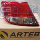 Lanterna Traseira VW Gol G5 09 acima com retroneblina fume lado esquerdo Arteb
