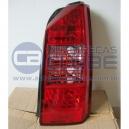 Lanterna Traseira Fiat Idea 05 acima cristal com grade interna vermelha lado carona Arteb