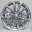 Jogo de rodas Chevrolet Cobalt aro 15x6 4x100 offset 39 Prata Replica R19