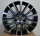 Jogo de Rodas Jetta 2011 aro 17x7 5x100 offset 40 Diamantado Preto S218