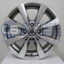 Jogo de rodas VW Novo Voyage aro 14x6 4x100 offset 38 Grafite Diamantado R36