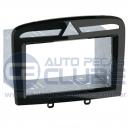 Frente Moldura Peugeot 308 e 408 Preta Brilhante com espaço para teclas e aparelhos 2 Din