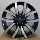 Jogo de rodas Honda Civic SI aro 17x7 4x100 offset 40 Preta diamantada R11