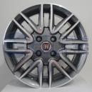Jogo de rodas Fiat Punto Sporting aro 15x6 4x98 offset 42 Grafite Diamantado R14