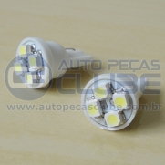 L�mpada Pingo LED W5W com 4 Leds SMD | Auto Pe�as Clube
