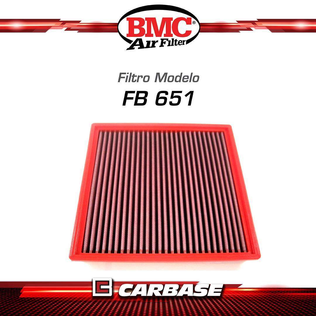 Filtro de ar esportivo BMC para automóvel - BMW - Sweries 5/ 6/ 7 (Fxx)/ X5/X6 (Fxx, E7x) - FB651/20 - Carbase Automotive Parts