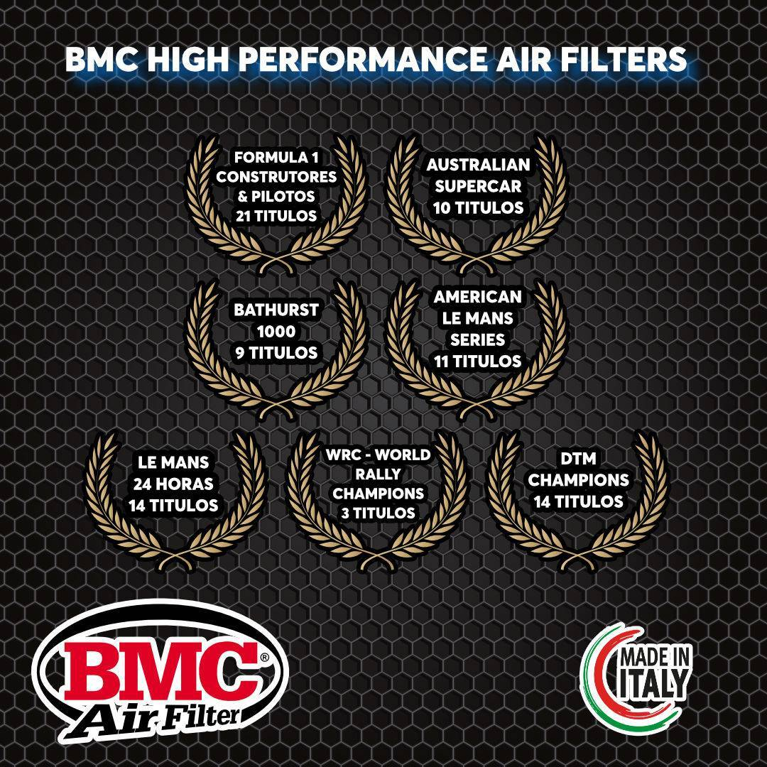 Filtro ar esportivo BMC p/ automóvel Mercedes CLA/ Class A (W176)/ B (W242/246)/ GLA FB762/20 - Carbase Automotive Parts
