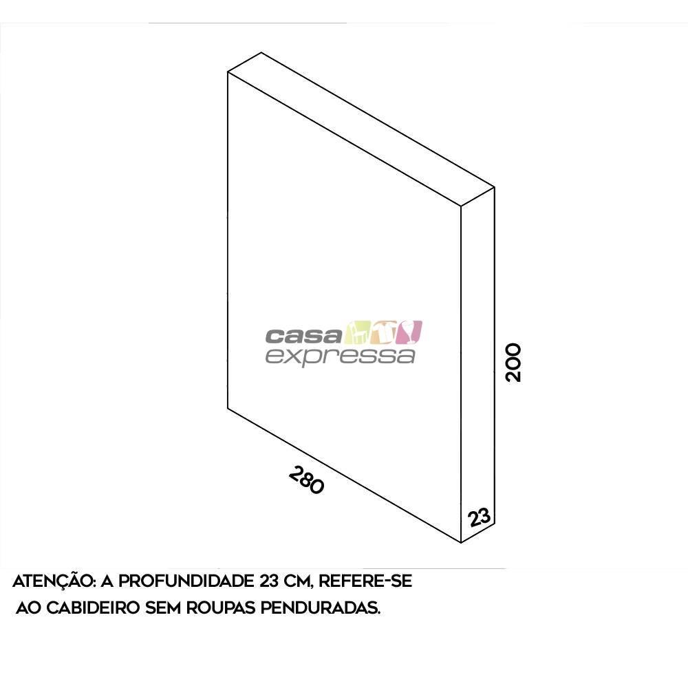 Arara de parede - 2,80m - CASA EXPRESSA