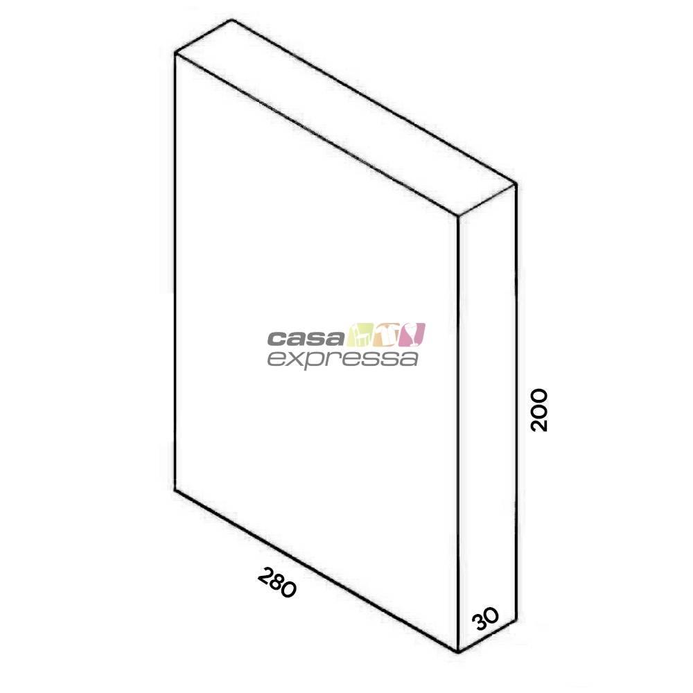 Closet Aramado - Linear CLR373 - 2,80M - Preto - CASA EXPRESSA
