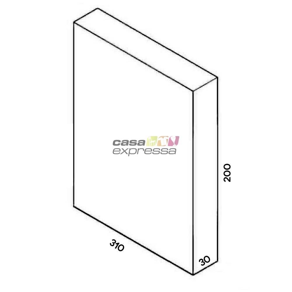 Closet Aramado - Linear CLR373 - 3,10M - Preto - CASA EXPRESSA