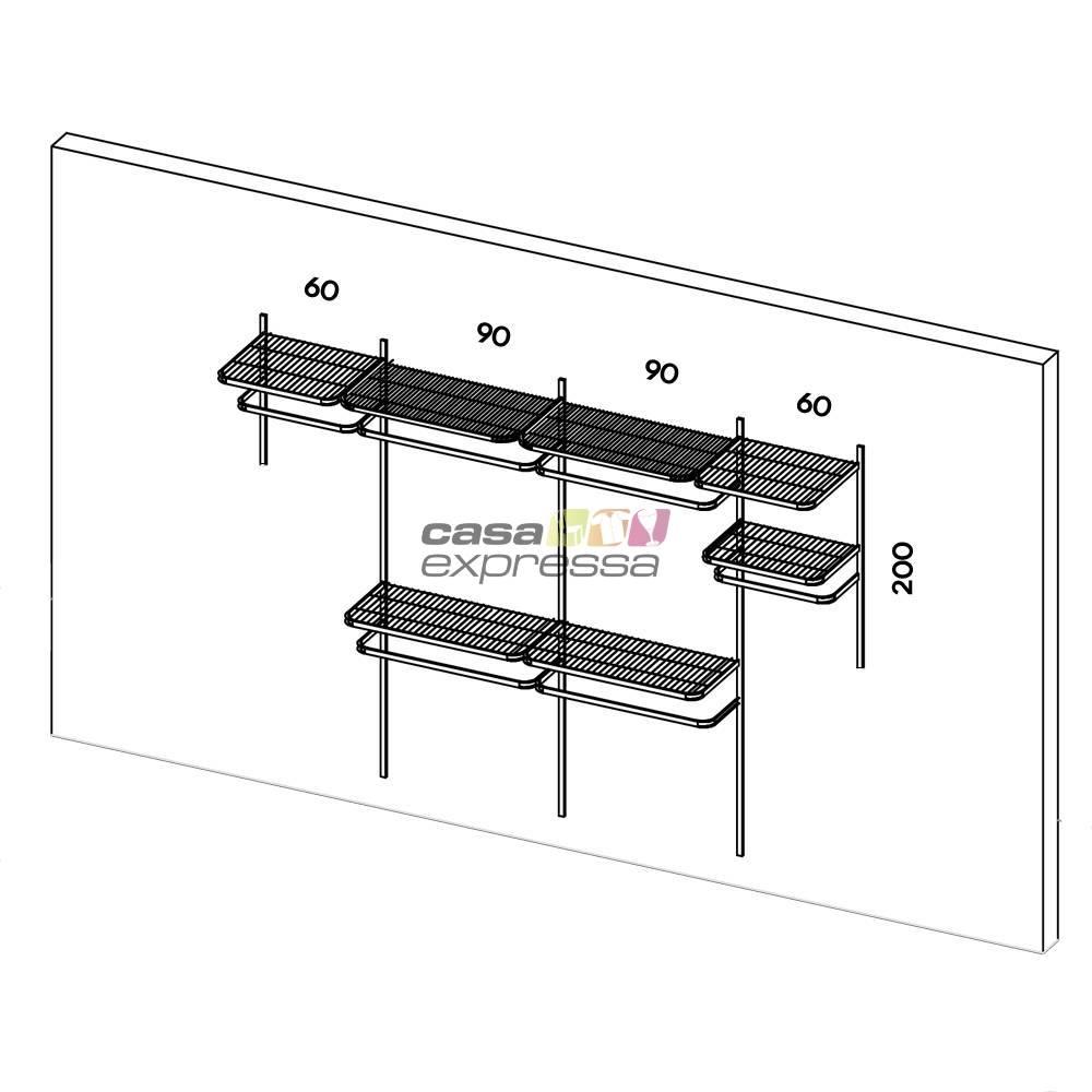 Closet Aramado - Linear CLR192 - 3,10m - CASA EXPRESSA