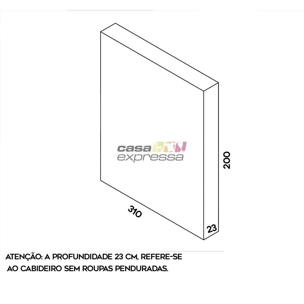 Arara de parede - 3,10m - CASA EXPRESSA