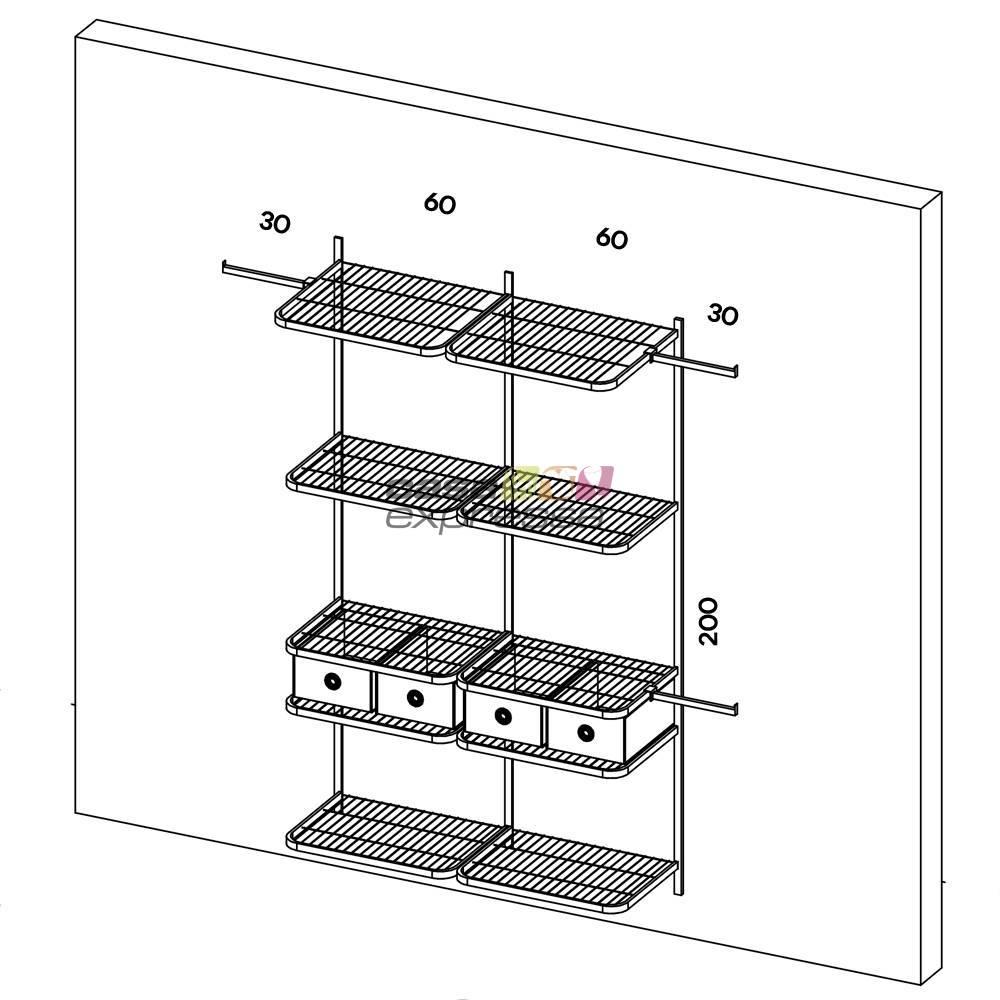 Closet Aramado - Linear CLR111 - 1,90m - CASA EXPRESSA
