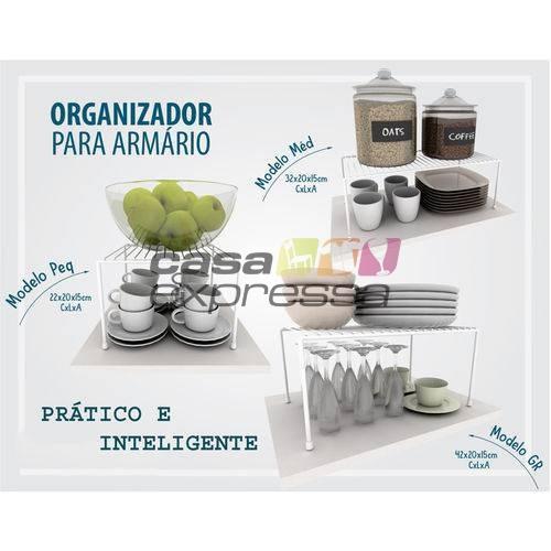 Kit Organizador de Armário de Cozinha Aramado Prateleiras 3