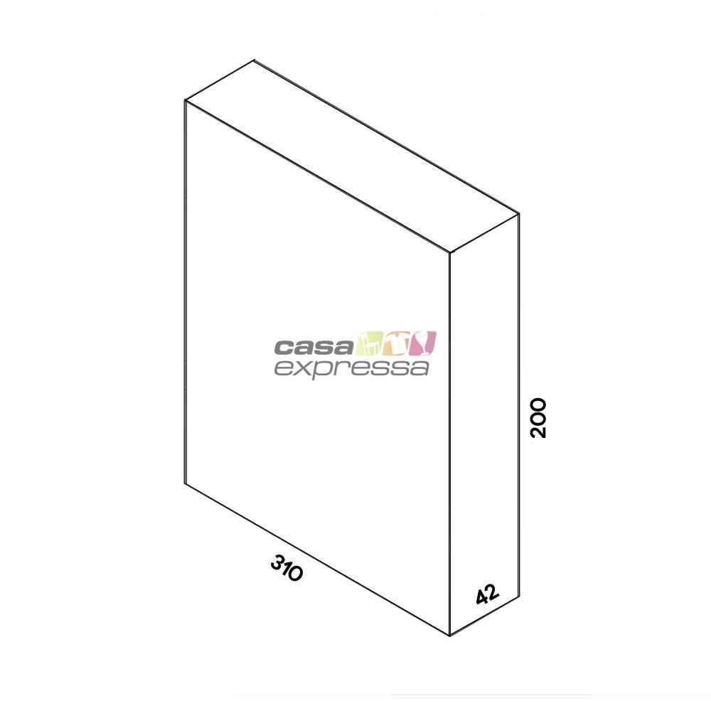 Guarda Roupa Aramado Linear CLR252 3,10m  - CASA EXPRESSA