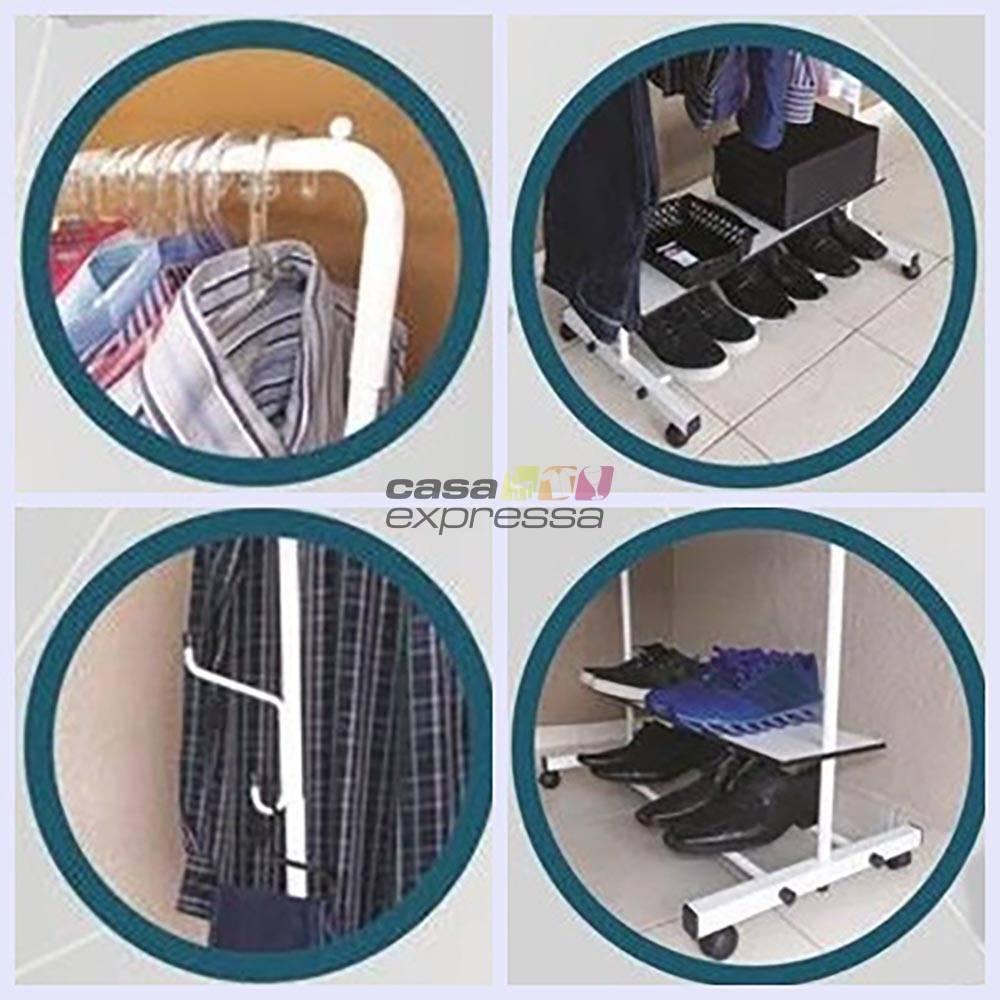 Arara para roupas - 60cm - Branca - CASA EXPRESSA