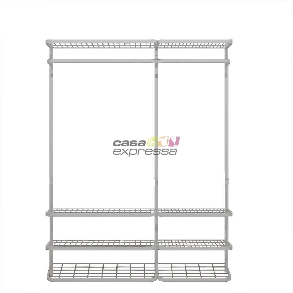 Guarda Roupa closet aramado sem portas CLR285 - 1,60m - CASA EXPRESSA