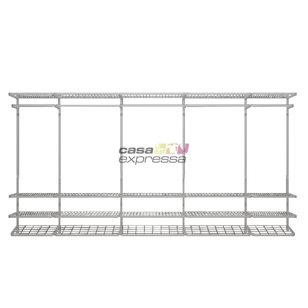 Guarda Roupa closet aramado sem portas CLR285 - 4,00m - CASA EXPRESSA