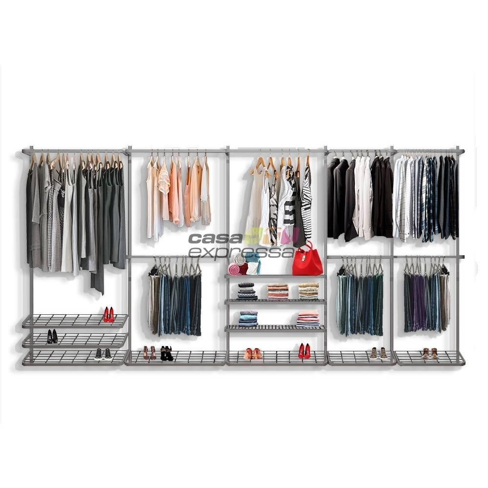 Guarda roupa closet aramado aberto CLR281 - 4,00m