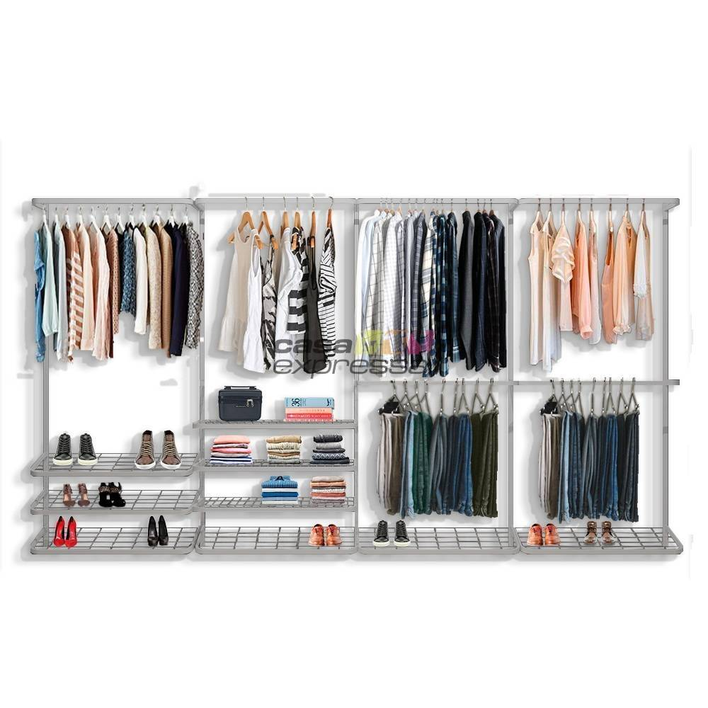 Guarda roupa closet aramado aberto CLR281 - 3,70m