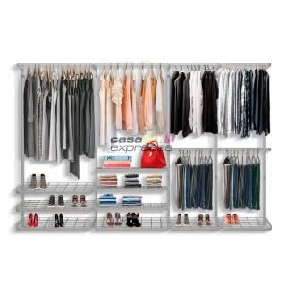 Guarda roupa closet aramado aberto CLR281 - 3,10m