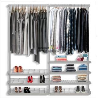 Guarda roupa closet aramado aberto CLR281 - 1,90m
