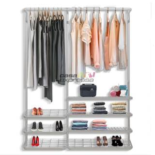 Guarda roupa closet aramado aberto CLR281 - 1,60m