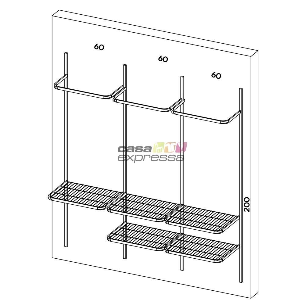 Kit Closet Monte Como Quiser - 12 peças  - CASA EXPRESSA